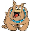 Cute english bulldog cartoon - photo#28