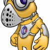 Weird Yellow Alien Mascot