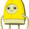 Short Banana Man Mascot