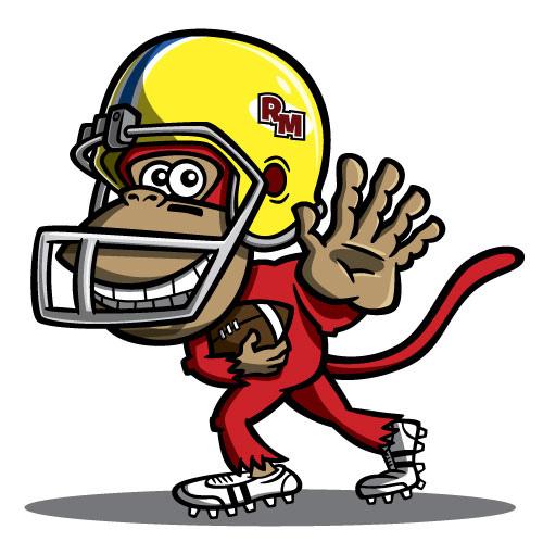 Football Monkey Mascot