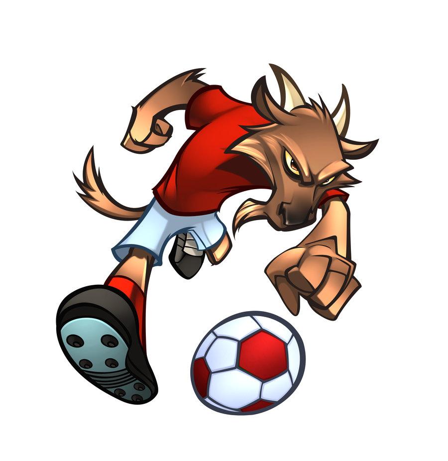 Goat Football Mascot
