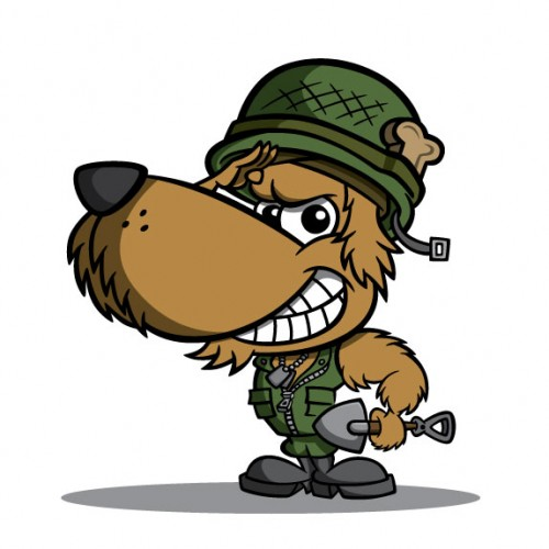 Military Dog Mascot