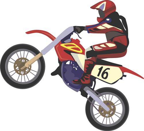 Motocross Rider Mascot