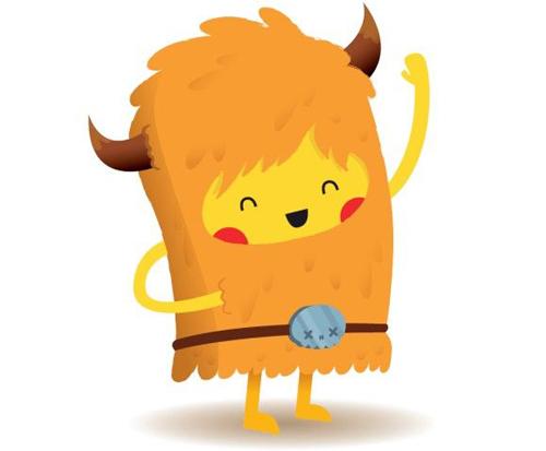 Cute Barbarian Mascot
