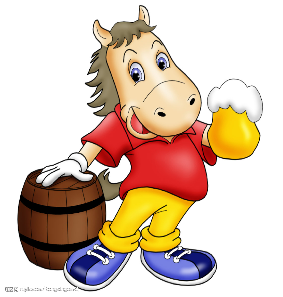 Drinking Horse Mascot