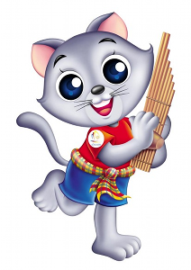 Cute Asian Cat Mascot