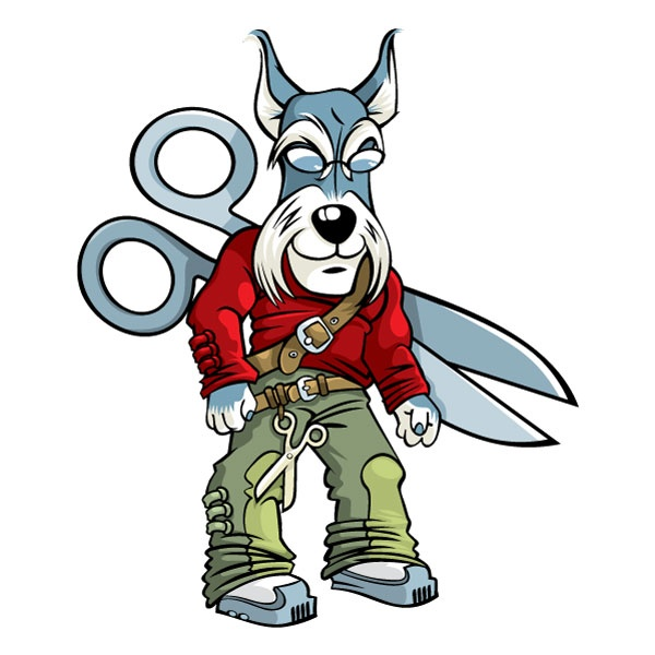 Dog Grooming Mascot