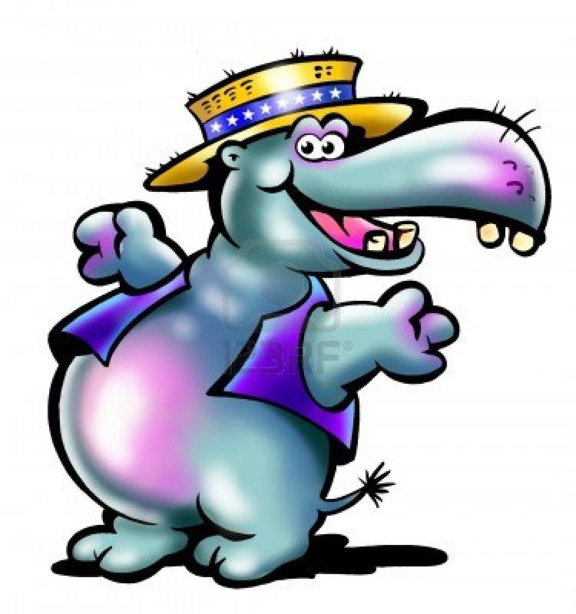 Friendly Farmer Hippo Mascot