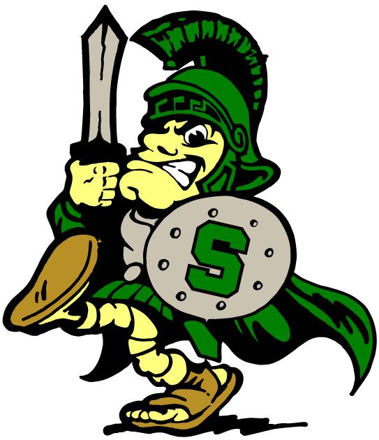 Green Spartan Mascot