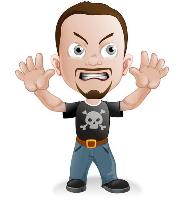 Rocker Guy Mascot