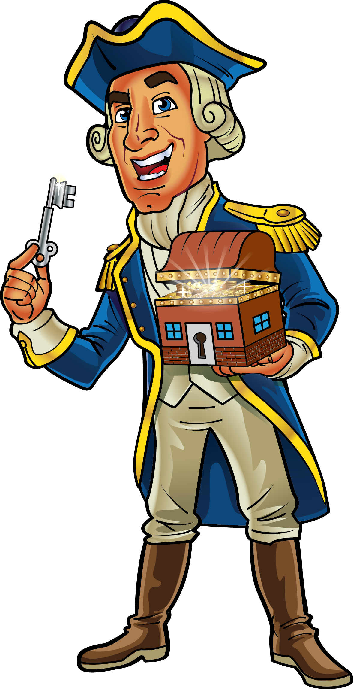 Pirate Captain Mascot