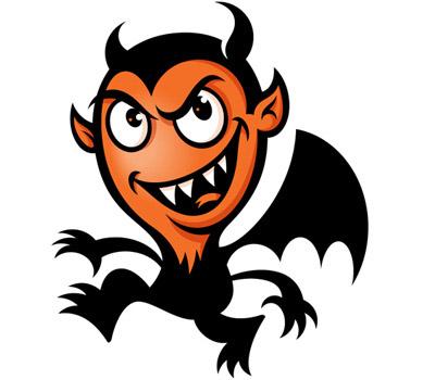 Black Devil Mascot