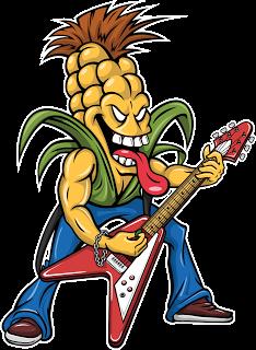 Rocker Corn Mascot