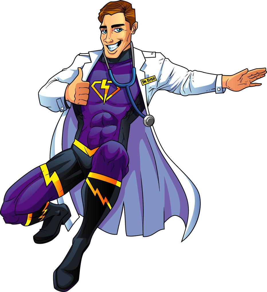Doctor Superhero Mascot