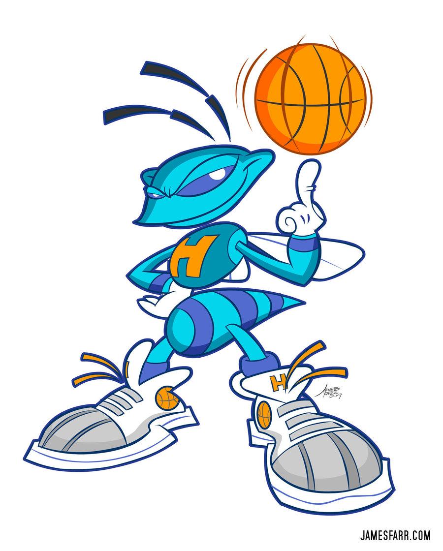 Basketball Hornet Mascot