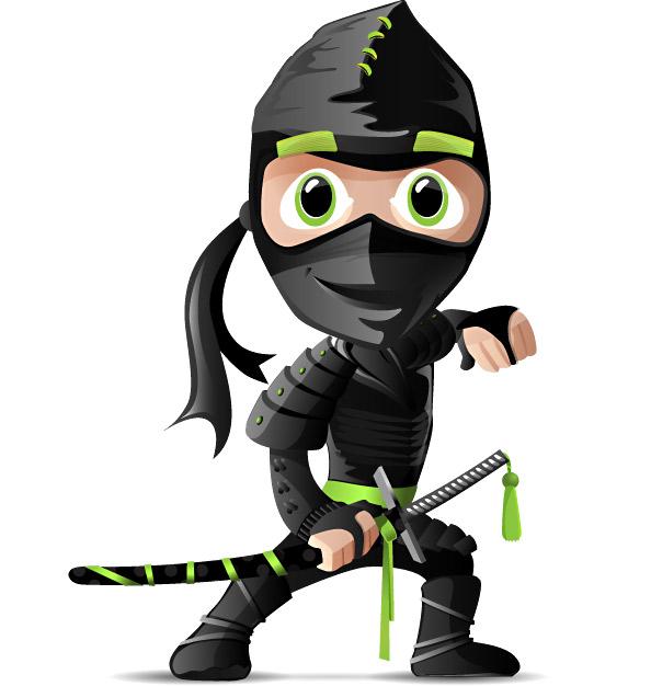 Cute Ninja Mascot