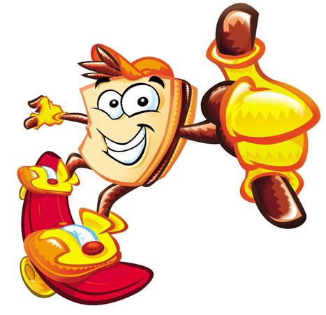 Chocolate Sandwich Mascot