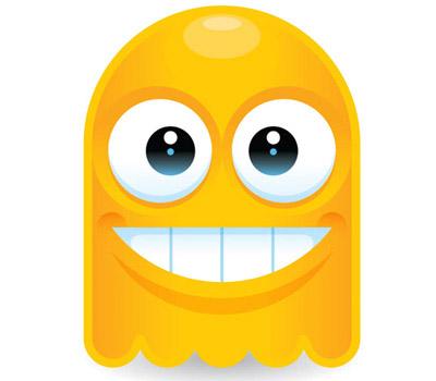 Yellow Ghost Mascot