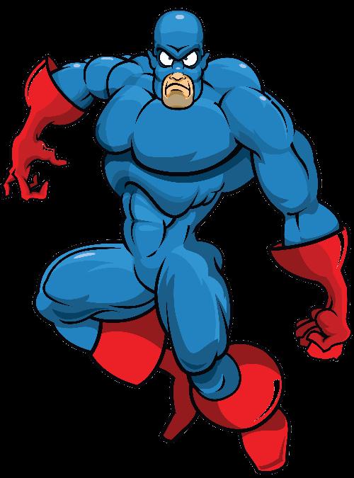 Blue Villain Mascot