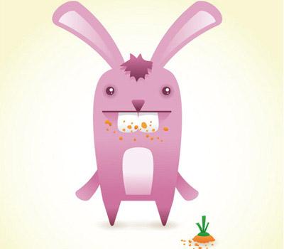 Cute Bunny Mascot