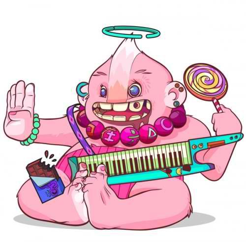 Music Alien Mascot