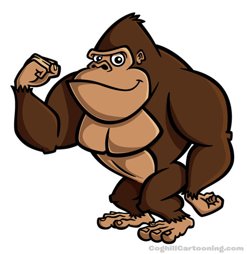 Mighty Gorilla Mascot