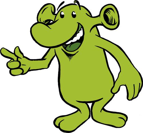 Funny Alien Mascot