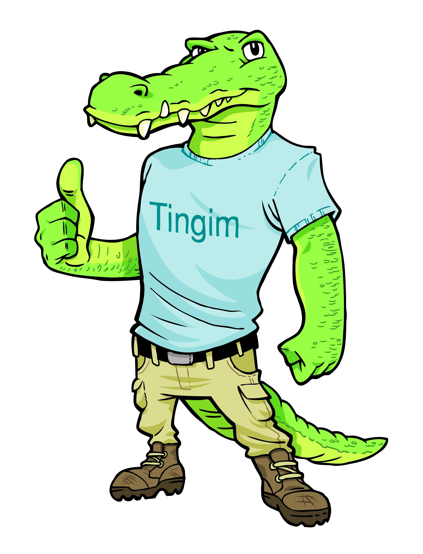 Cool Croc Mascot