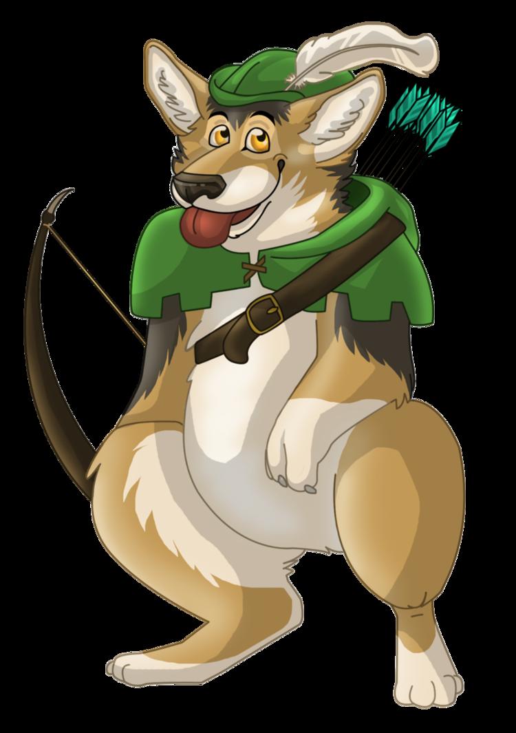 Corgi Hood Mascot