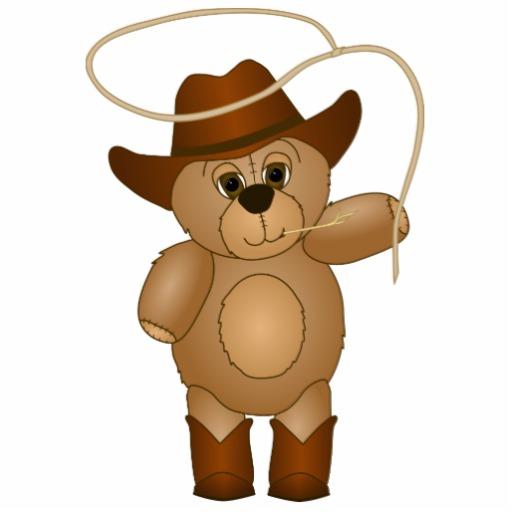 Cowboy Teddy Mascot