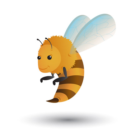 Cute Flying Bee Mascot