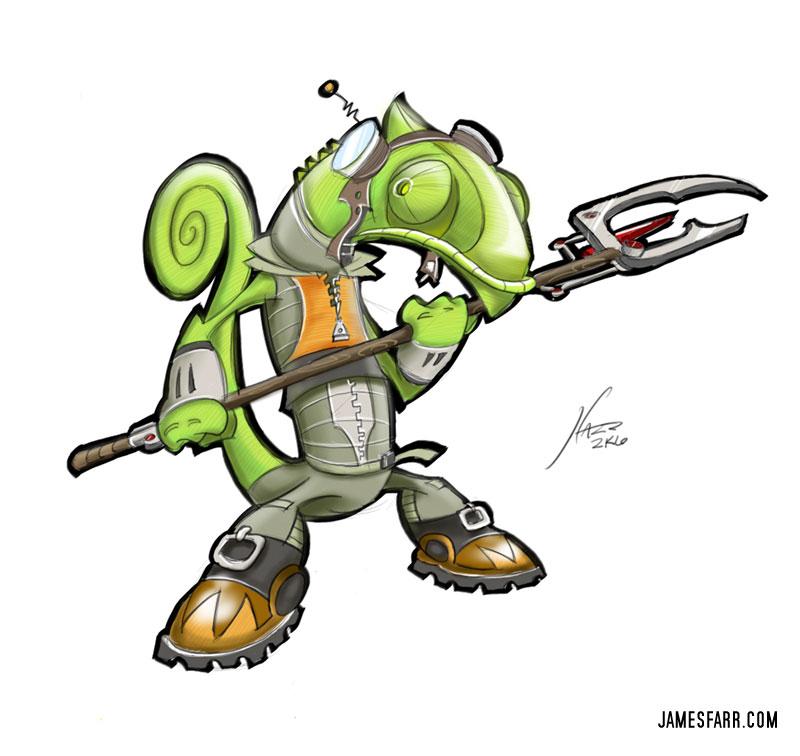 Chameleon Mascot
