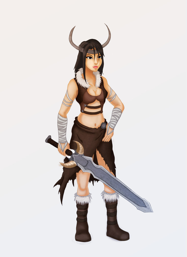 Female Viking Mascot