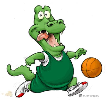 Basketball Gator Mascot