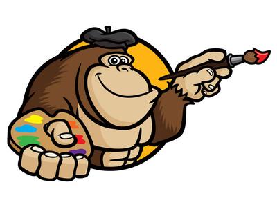 Painting Gorilla Mascot