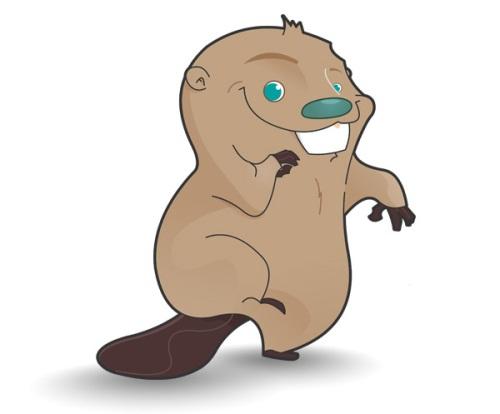 Cute Beaver mascot