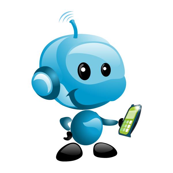 Cellphone Mascot