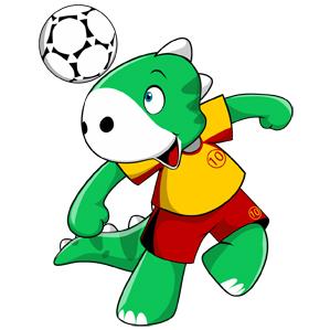 Dino Football Mascot