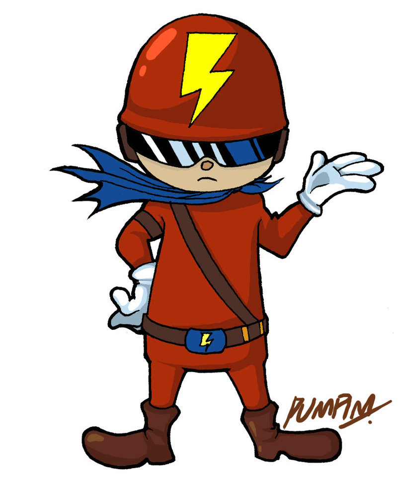 Red Superhero Mascot