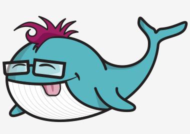 Funny Whale Mascot