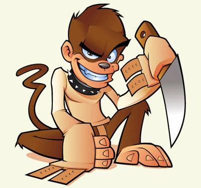 Killer Monkey Mascot
