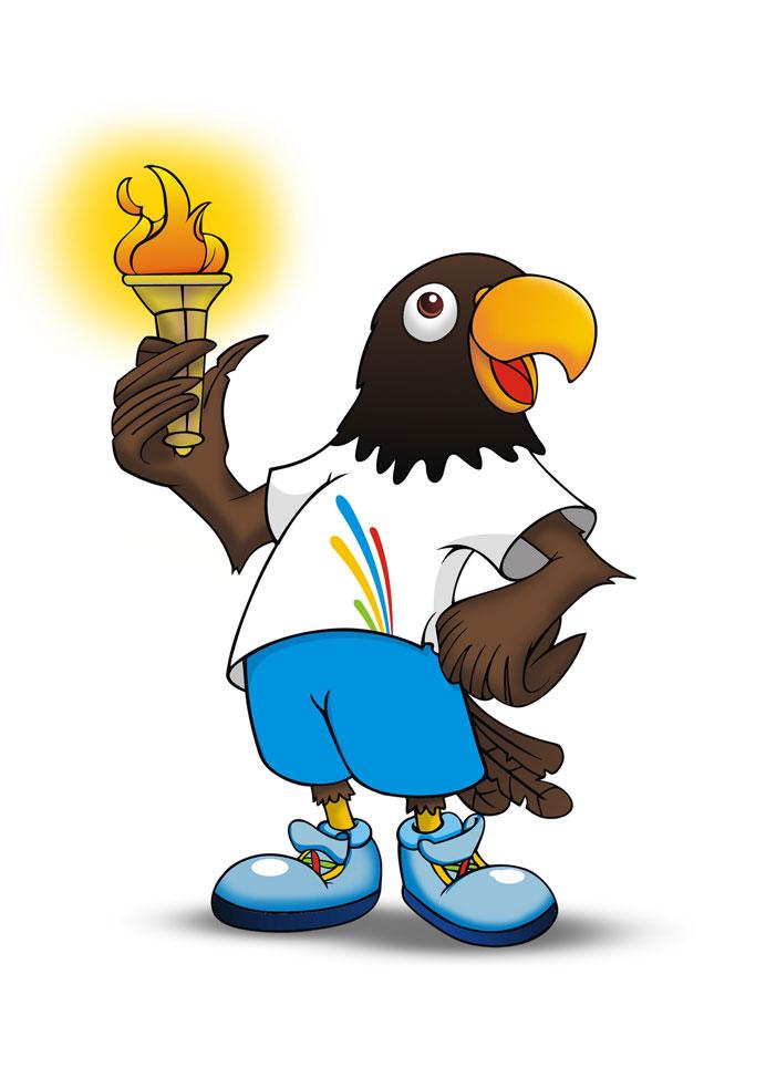 Black Parrot Mascot
