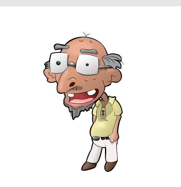 Cartoon Characters Old Man : Old