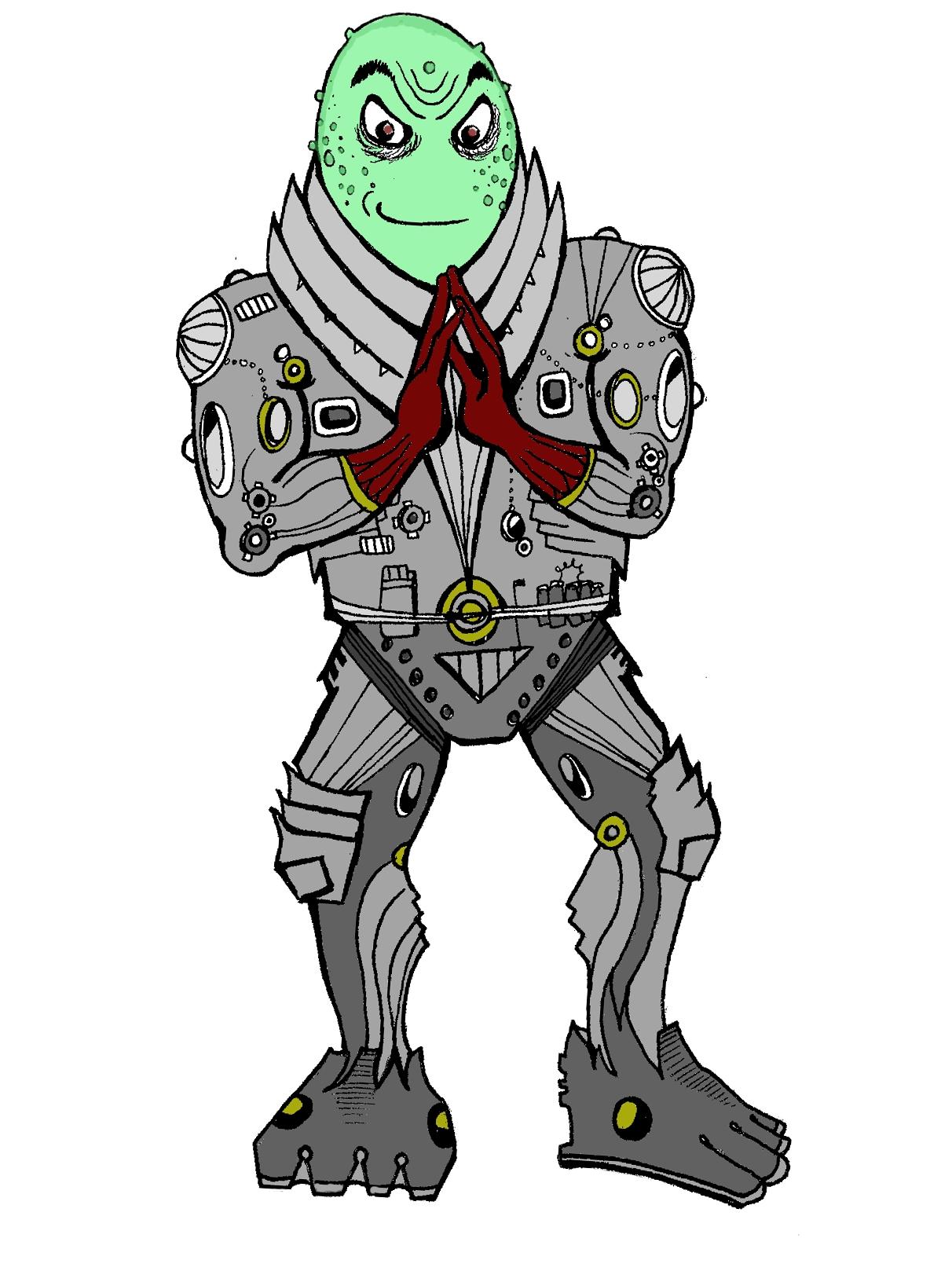 Alien Villain Mascot