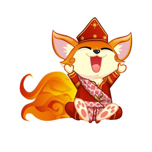 Flaming Fox Mascot