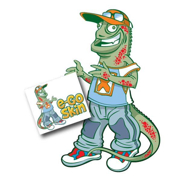Eco Skin Iguana Mascot