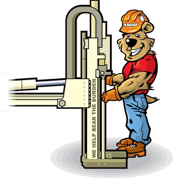 Factory Worker Bear Mascot