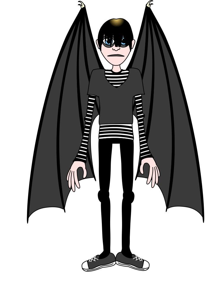 Emo Vampire Mascot