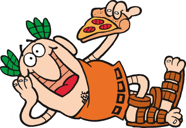 Greek Pizza Mascot