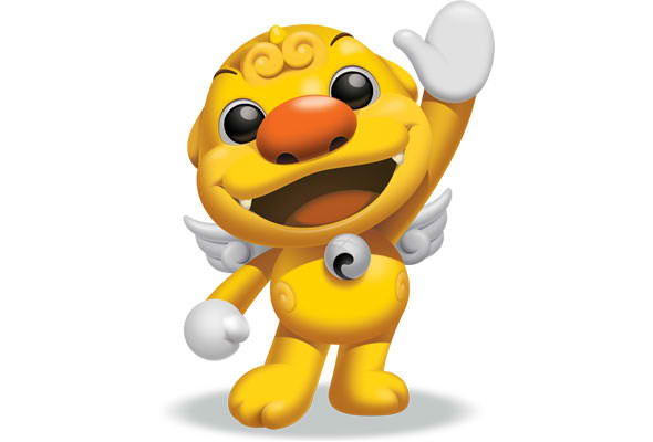 Yellow Creature Mascot